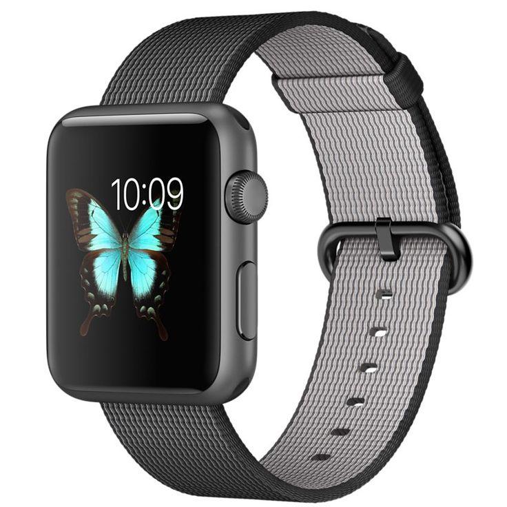 Apple Watch Sport - 42mm Space Grey Aluminium Case with Black Woven Nylon - Apple (UK)