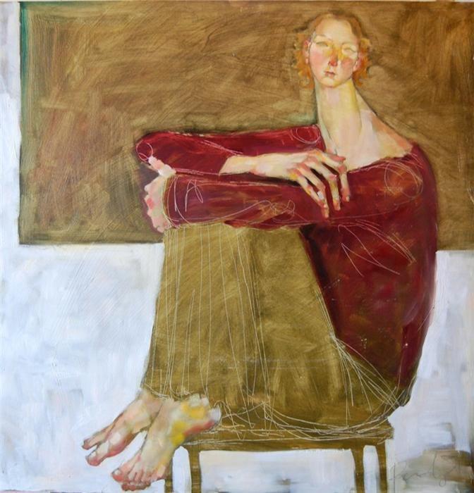 Olivia Pendergast - Michal Sitting 30x30 oil