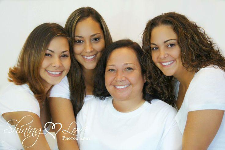 white on white family photo.