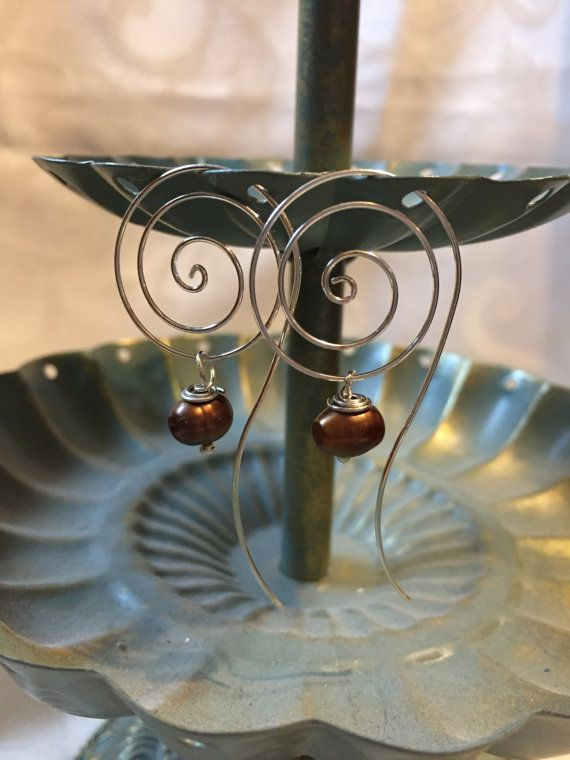 Twisted Spiral Silver Earrings Geninue by DawningsCustomDesign