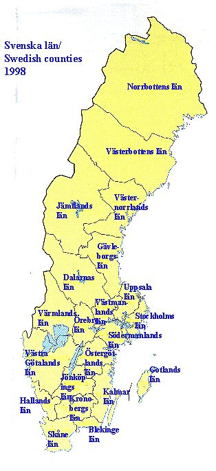 Svenska landskap / Swedish Counties