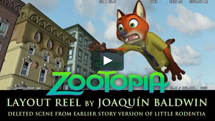 Second part of my Zootopia Layout Reel, from an early story version in which Nick Wilde was the one being chased around Little Rodentia.  Though this sequence…