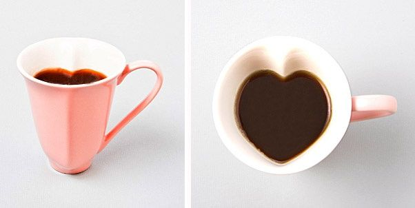 Heart MugTeas Time, Valentine Day, Coffe Lovers, Coffe Cups, Heart Coffe, Heart Shape, Mornings Coffe, Things, Drinks