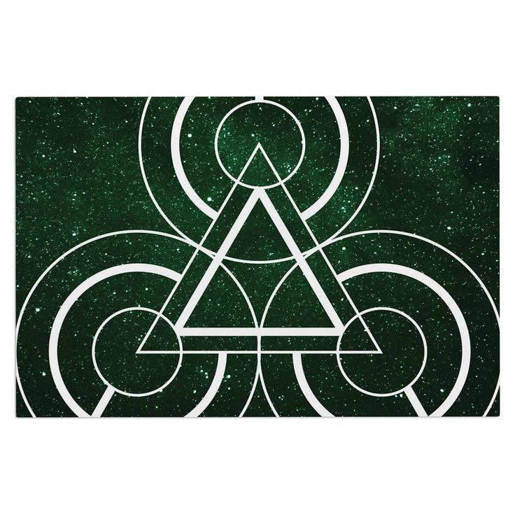 "Matt Eklund ""Emerald City"" Geometric Digital Decorative Door Mat"