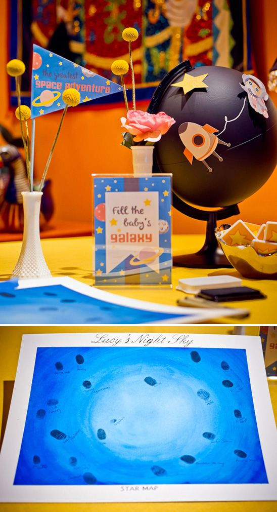 Un baby shower con el tema espacio / A space-themed baby shower