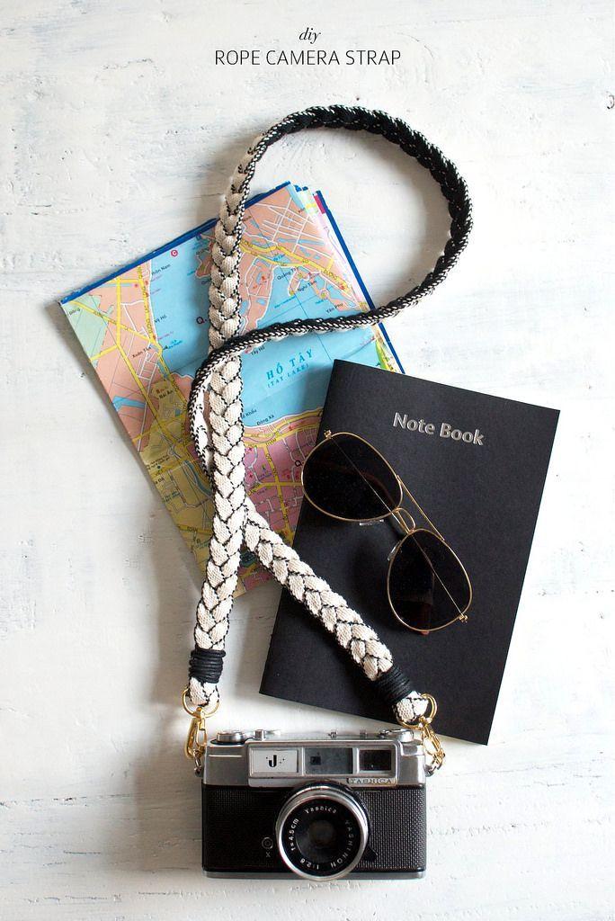make a rope camera strap // diy