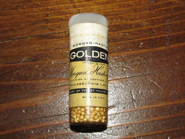 Vintage Morgan Hastings & Co Goldent 24k Gold 1/10 Ounce Dental Dentist Gold…