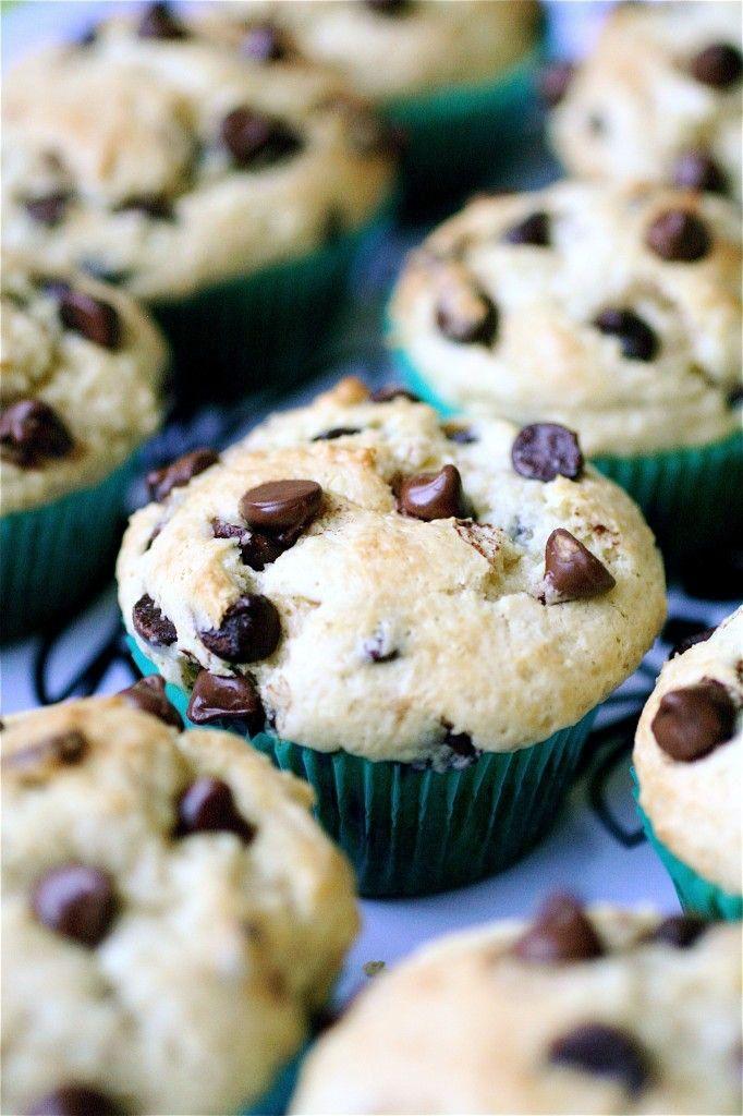 Top muffins aux pépites de chocolat moelleux juste sur des idées de recettes star food   – Chocolate chip muffins recipe
