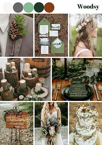 This one does not only fit the Woodsy theme, but Garden as well as the Bohemian Wedding Theme