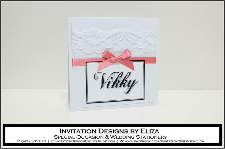 Bridesmaids Card Design {Wedding} Coral,Black & White Theme www.facebook.com/InvitationDesignsByEliza