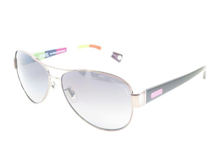d837c8c62a ... get coach hc 7003 kristina 9010 t3 dark silver pink polarized sunglasses  a6d9e 8d386
