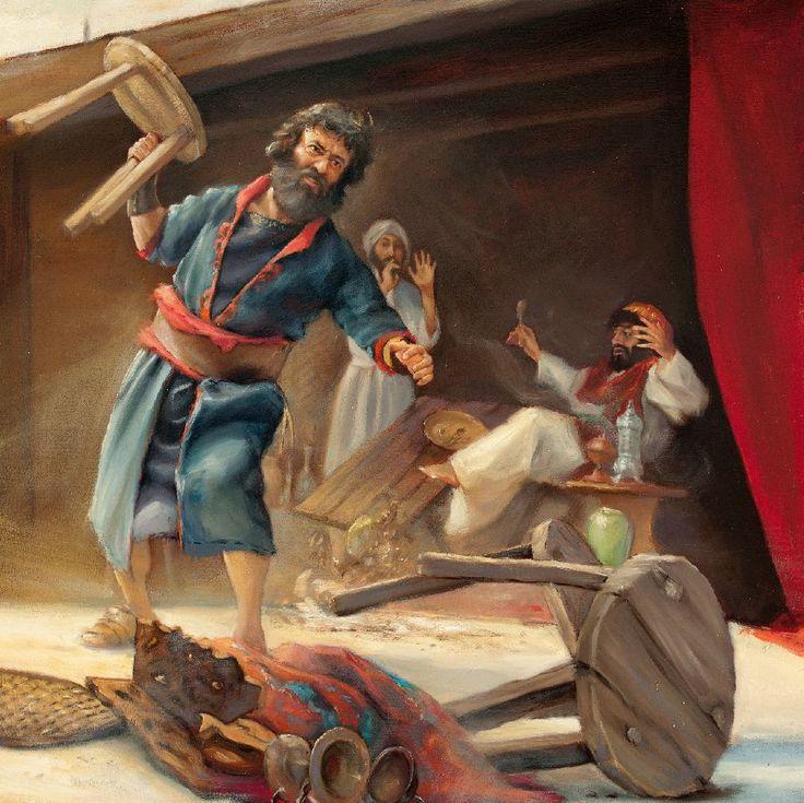 Velekněz Eljašib dovolil, aby ho ovlivnil Tobiáš, který nevěřil v Jehovu a odporoval pravému uctívání. Eljašib zřídil v chrámu pro Tobiáše jídelní sál. Nehemjáš vyhodil veškerý Tobiášův nábytek, vyčistil místnost a zařídil, aby se znovu začala používat správným způsobem. Nehemjáš dál odstraňoval z Jeruzaléma všechno špatné.