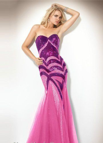 Jovani 153050 Fuschia/Nude Strapless Sequin Evening Gown Dress Prom New 2  http://www.mysharedpage.com/jovani-153050-fuschianude-strapless-sequin-evening-gown-dress-prom-new-2