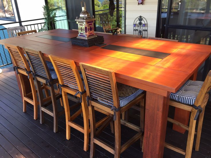 Ana White | Outdoor Bar Height Table with Built-In Ice Trays - DIY Projects