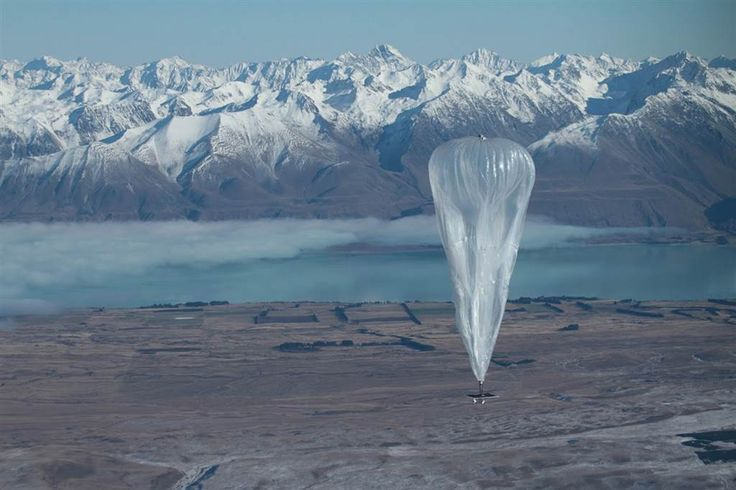 A Project Loon high-altitude balloon sails over Tekapo in southern New Zealand after its launch on June 15. The test was part of Google's plan to send balloons to the edge of space, with the lofty aim of bringing the Internet to the two-thirds of the global population currently without Web access