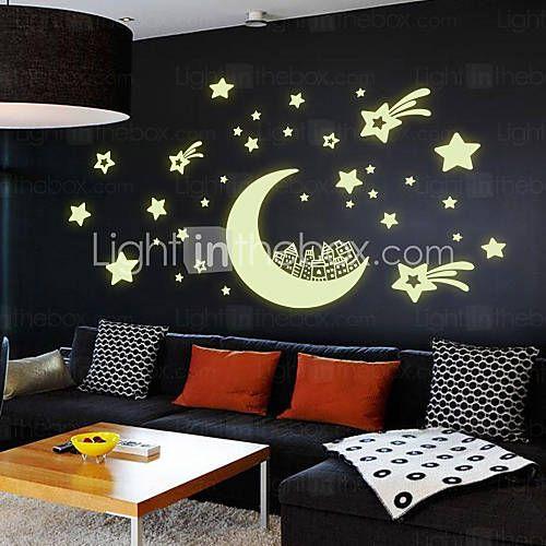 Romantiek / Mode / Feest / Vormen / Fantasie / Vrije tijd Wall Stickers Lichtgevende Muurstickers , PVC 21*29.7cm 2016 – €5.87