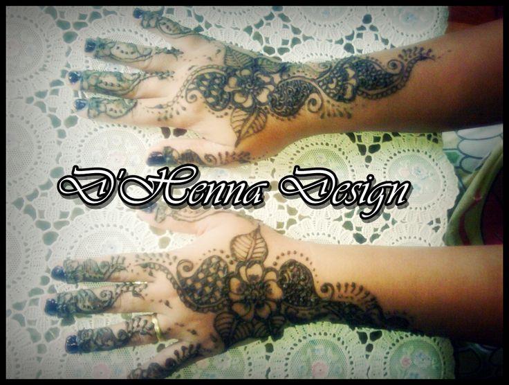 Simple  flower henna wedding by. D'Henna