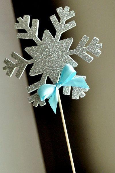 Frozen Birthday Party Decoration Snowflake by courtneyorillion