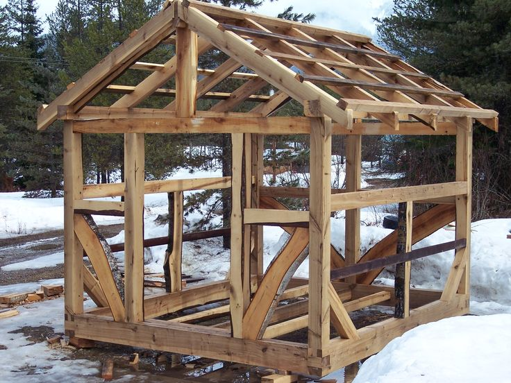 154 best timber frame images on pinterest timber frames Post and beam cottage plans