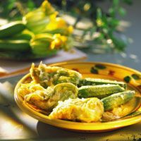 Beignets de fleurs de courgettes, pas cher