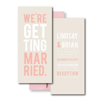 Peachy Wedding Invitations #weddinginvitations #convitescasamento
