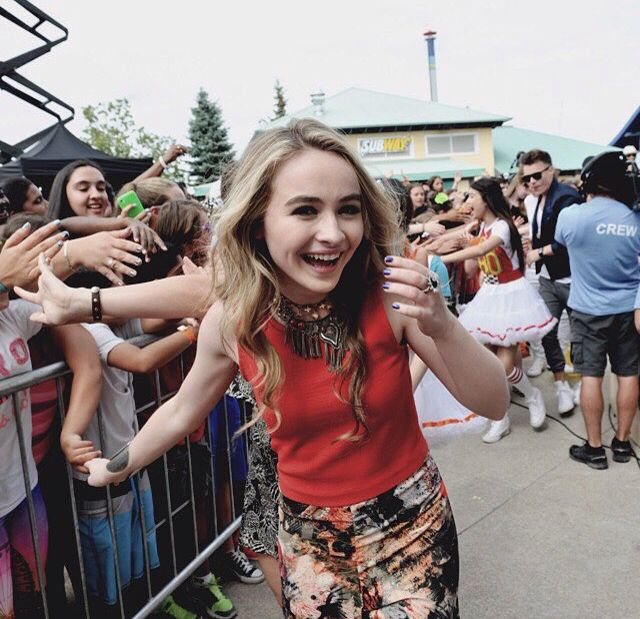 Sabrina Carpenter is such an amazing singer. Go follow her and she might just follow you back! If you have not already you NEED to go get her new album: EVOLution. Also, she has a website you can find it at sabrinacarpenter.com.