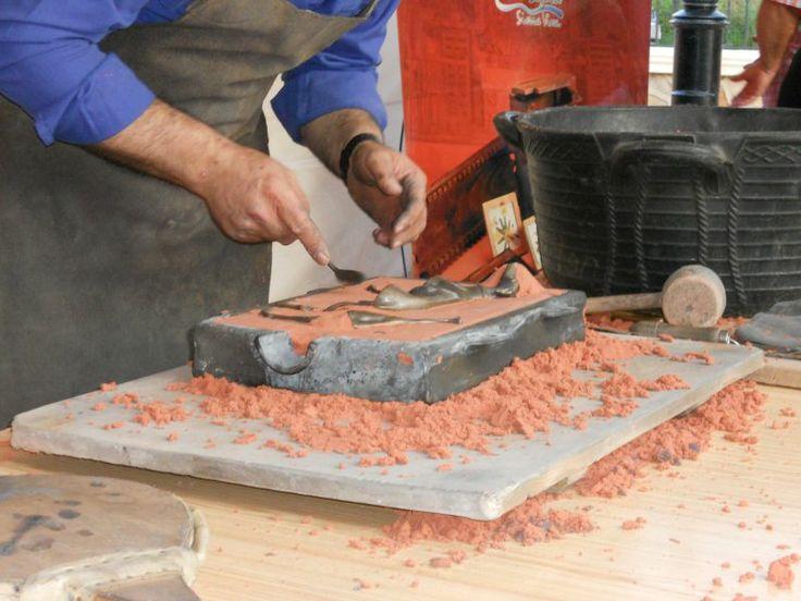 Taller elaboración de piezas en bronce