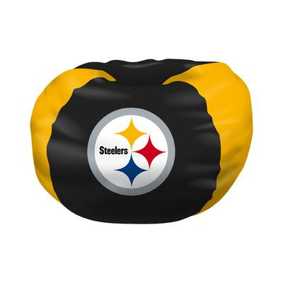 NFL Bean Bag Chair NFL Team: Pittsburgh Steelers - http://delanico.com/bean-bag-chairs/nfl-bean-bag-chair-nfl-team-pittsburgh-steelers-640205502/