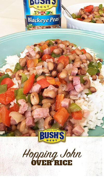 71 best quick easy meals images on pinterest bean recipes bush bushs hopping john over rice this comfort food made with bushs blackeye forumfinder Gallery