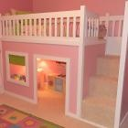 Playhouse Loft Bed: The White, Home Projects, My Daughters, Girls Bedrooms, Playhouses Beds, Little Girls Rooms, Loft Beds, Building A Beds, Kids Rooms