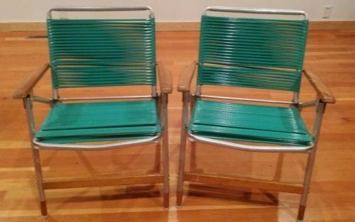 Details About Vintage Aluminum Folding Lounge Lawn Beach