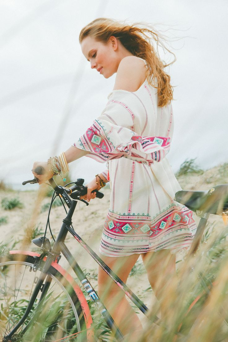 Are you ready for a ride in style? New mini boho dress available online soon...