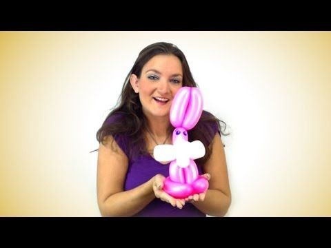 EASIER Bunny Balloon How To!... balloon twisting is fun!