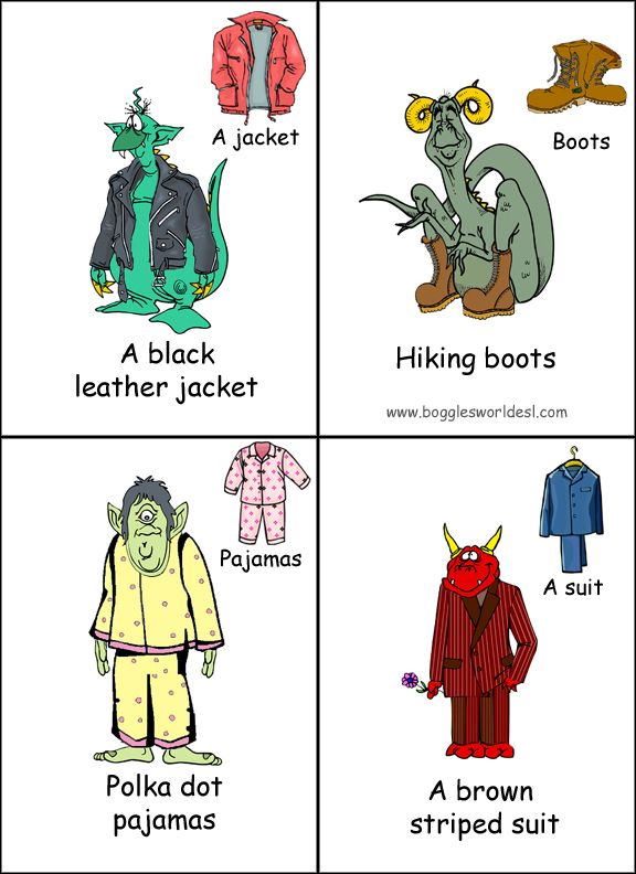 Clothes cards.