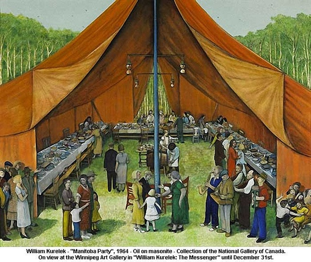 William Kurelek, Manitoba Party, 1964. Never really liked this one...