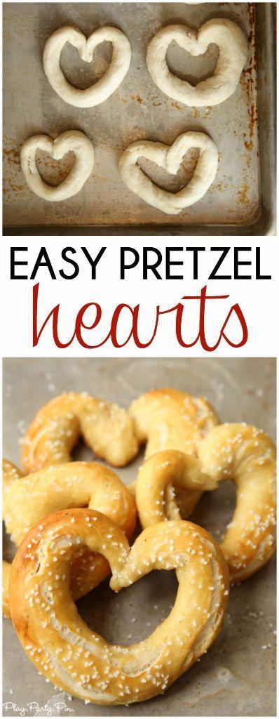 Easy homemade pretzels and fun heart-shaped pretzels