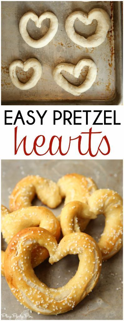 Easy homemade pretzels and fun heart-shaped pretzels