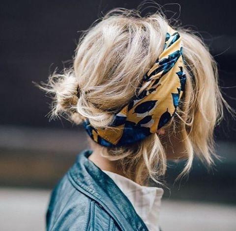 De la couleur dans les cheveux #hairstyle #hairdo #blondhair #headband #bandana #bohemian #boheme