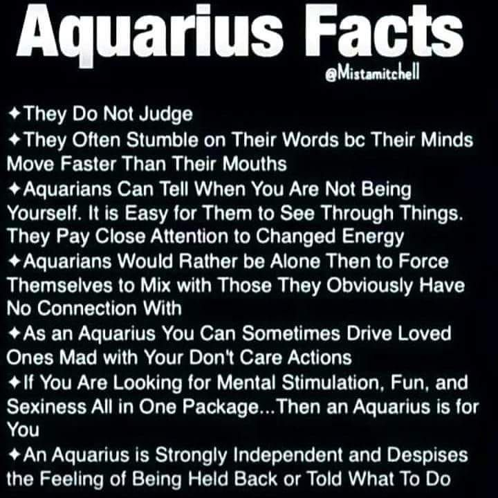 Maybe there's something to this #zodiac ish  #aquarius #facts