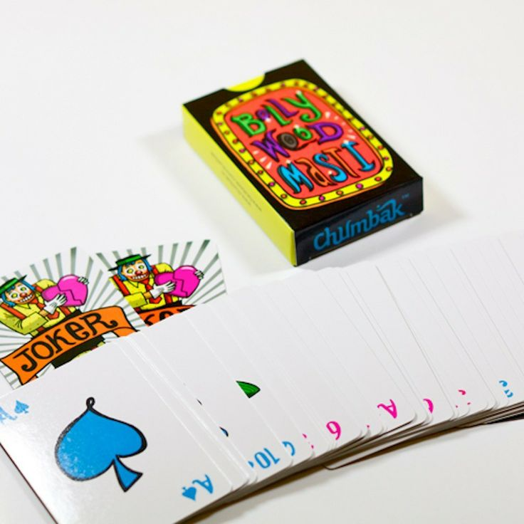 BOLLYWOOD MASTI PLAYING CARDS - PLAYING CARDS - TRAVEL ACCESSORIES :: Chumbak