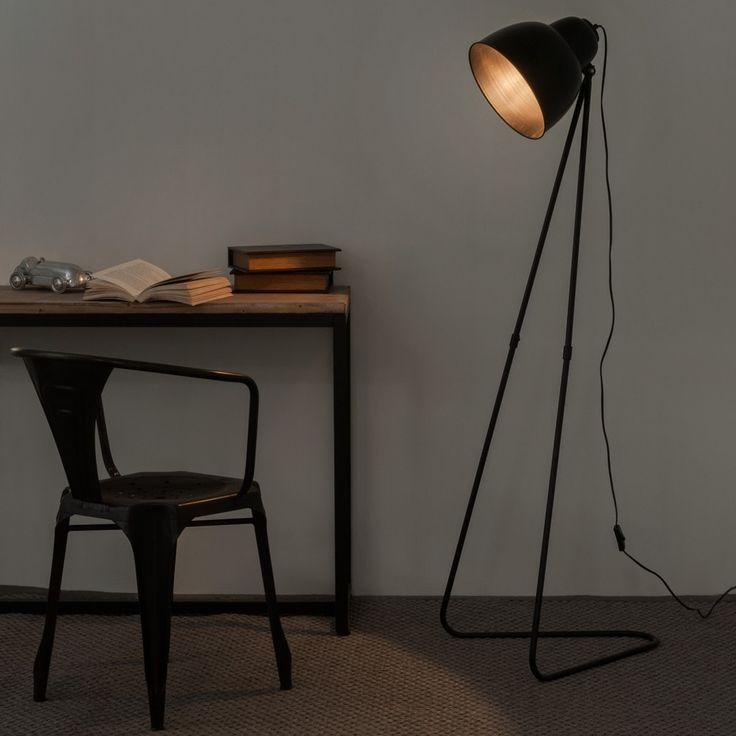 Zwarte metalen ZIGGY staande lamp H ...