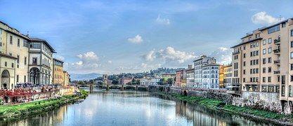 Флоренция, Италия, Река Арно, Европе