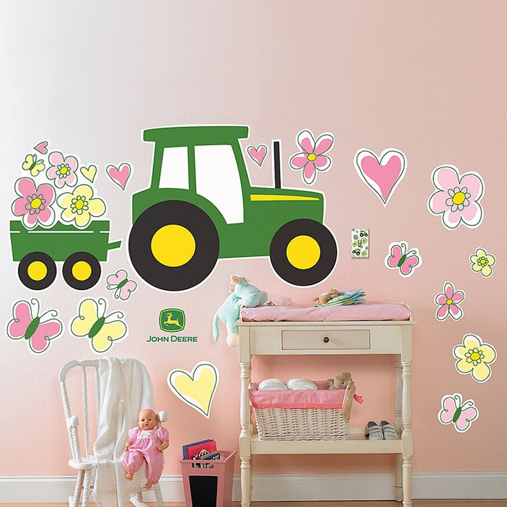 John Deere Pink Giant Removable Wall Decals for dees room!!!