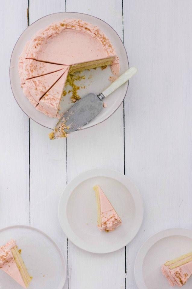 buttermilk cake with blood orange frosting   the vanilla bean blog