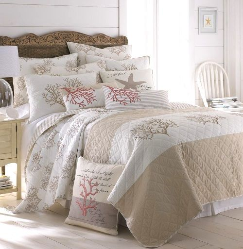 Pretty Beach Bedding: http://beachblissliving.com/beach-bedding-collections/