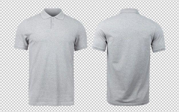 Download Grey Polo Mockup Front And Back Kaos Pakaian Pria Desain Pakaian