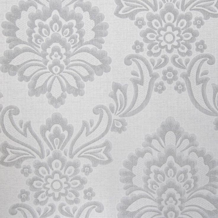 Tapet textil gri floral 072487 Sentiant Pure Kolizz Art