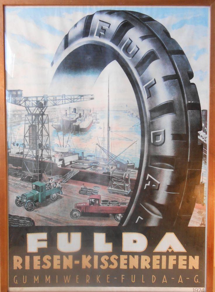 1920s german 'industrial' poster Fulda Tires: http://retro-design.dk/butik/original-tysk-vintage-plakat-fulda-reklame-1920erne/