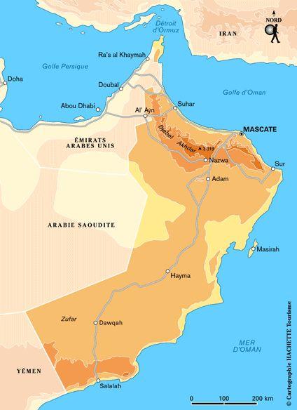 Plan Oman : cliquez sur la carte Oman pour l'agrandir