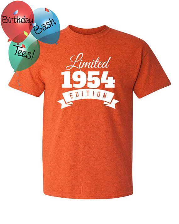 1954 Birthday Shirt 62 Limited Edition by BirthdayBashTees on Etsy